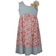 Girls 7-16 Bonnie Jean Knit Printed Challis Babydoll Dress