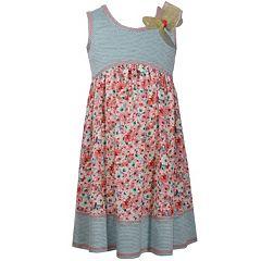 Girls 7-16 Bonnie Jean Knit Printed Challis Babydoll Dress