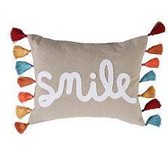 Levtex Elia Smile Throw Pillow