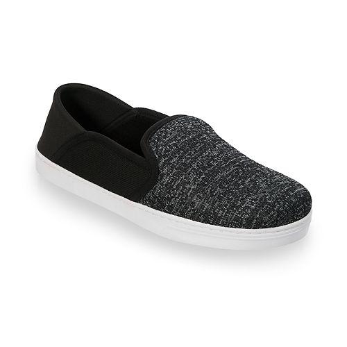 Men's Dearfoams Knit Fold-Down Closed Back Slippers