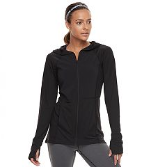 Women's Tek Gear® Jersey Thumb Hole Jacket