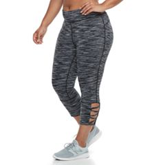 Plus Size Tek Gear® Performance Pieced Mesh Midrise Capri Leggings