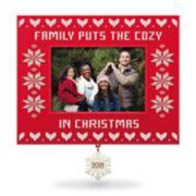 Cozy Family Christmas Photo Holder 2018 Hallmark Keepsake Christmas Ornament