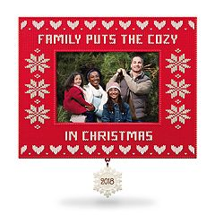 Cozy Family Christmas Photo Holder 2018 Hallmark Keepsake Christmas Ornament