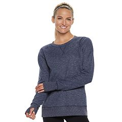 Women's Tek Gear® Ultrasoft Fleece Crewneck Thumb Hole Sweatshirt
