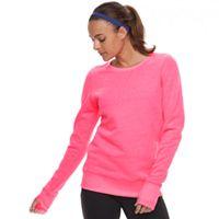 Women's Tek Gear Ultrasoft Fleece Crewneck Thumb Hole Sweatshirt Deals