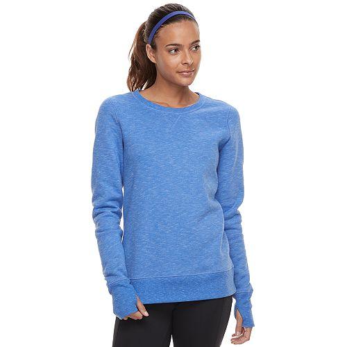 Women's Tek Gear® Crewneck Thumb Hole Sweatshirt