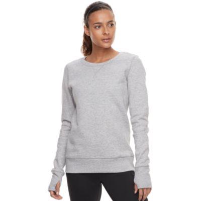 Women's Tek Gear® Ultrasoft Fleece Crewneck Thumb Hole Sweatshirt
