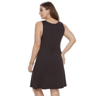 Plus Size Jennifer Lopez Strappy Fit & Flare Dress