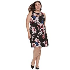 Plus Size Jennifer Lopez Strappy Fit & Flare Dress
