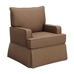 Storkcraft Davenport Upholstered Swivel Glider