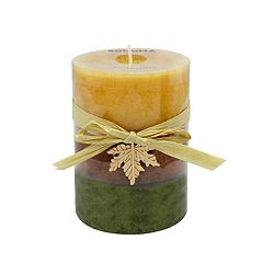 SONOMA Goods for Life™ Falling Leaves 4' x 3' Pillar Candle