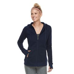 Women's Tek Gear® Ultrasoft Fleece Hooded Thumb Hole Jacket