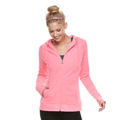 Women's Tek Gear® Fleece Hooded Thumb Hole Jacket