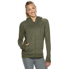 Women's Tek Gear® Ultrasoft Fleece Hooded Thumb Hole Jacket