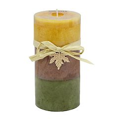 SONOMA Goods for Life™ Falling Leaves 6' x 3' Pillar Candle