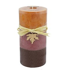 SONOMA Goods for Life™ Tri-Pour Pumpkin Spice 6' x 3' Pillar Candle