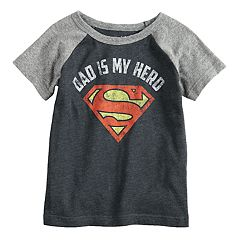 Toddler Boy Jumping Beans® Marvel Superman 'Dad Is My Hero' Raglan Graphic Tee