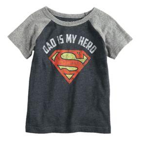 "Toddler Boy Jumping Beans® Marvel Superman ""Dad Is My Hero"" Raglan Graphic Tee"