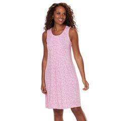 Petite Croft & Barrow® Pintuck Sleeveless Dress