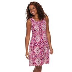 Petite Croft & Barrow® Pintuck Sleeveless Dress