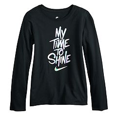 Girls 7-16 Nike Shine Long Sleeve Tee
