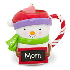 Mom Snowman Mug 2018 Hallmark Keepsake Christmas Ornament