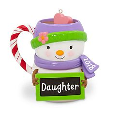 Daughter Snowman Mug 2018 Hallmark Keepsake Christmas Ornament