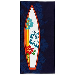 Hang Ten Hibiscus Surfboard Beach Towel