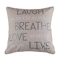 Levtex Dynasty Laugh Breathe Throw Pillow