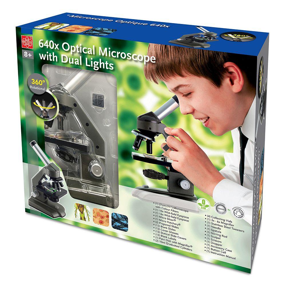 EDU-Toys 640x Die-Cast Optical Microscope with Dual Lights