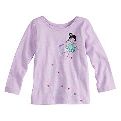 Baby Girl Jumping Beans® Long Sleeve Basic Tee