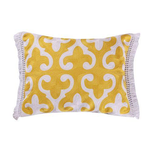 Levtex Dynasty Yellow Throw Pillow