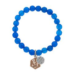 love this life Silver Plated Blue Agate 'Let Your Dreams Set Sail' Bracelet
