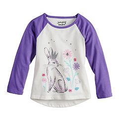 Toddler Girl  Jumping Beans® Glittery Raglan Graphic Tee