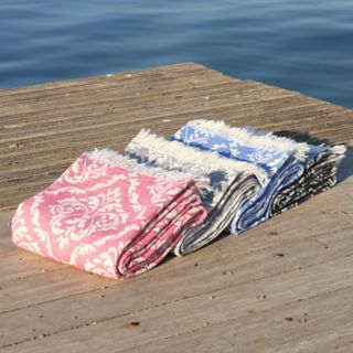 Linum Home Textiles Damask Delight Pestemal Beach Towel