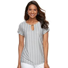 Women's Dana Buchman Textured Metal Accent Top