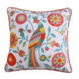 Levtex Bellflower Bird Throw Pillow