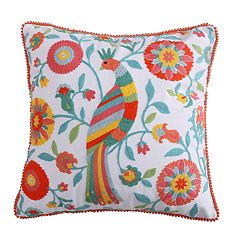 Levtex Bellflower Bird Throw Pillow