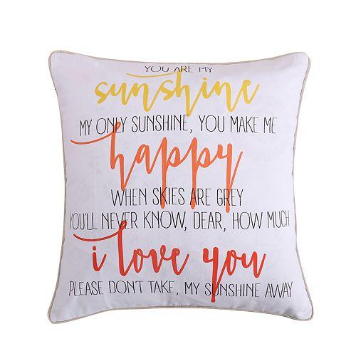 Levtex Bellflower Sunshine Throw Pillow