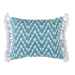 Levtex Heather Teal Fringe Throw Pillow