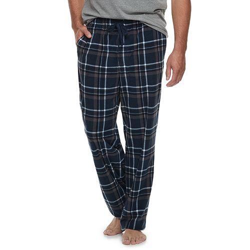Big & Tall Croft & Barrow® Patterned Microfleece Lounge Pants