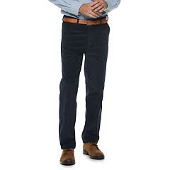 Men's Big & Tall Classic-Fit Easy-Care Stretch Flat Front Corduroy Pants