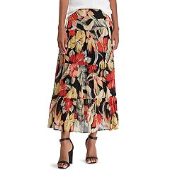 Women's Chaps Tiered A-Line Maxi Skirt