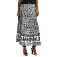Women's Chaps Print Tiered A-Line Skirt