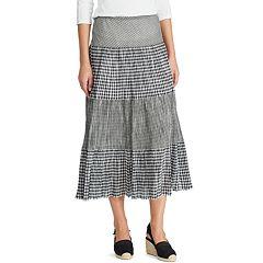 9d45edb366d Women s Chaps Tiered A-Line Maxi Skirt
