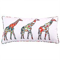 Levtex Mirage Applique Giraffes Oblong Throw Pillow