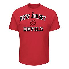 Men's Majestic New Jersey Devils Heart & Soul Tee