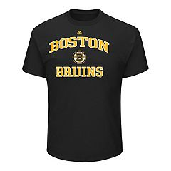 Men's Majestic Boston Bruins Heart & Soul Tee