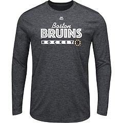 Men's Majestic Boston Bruins Crash Tee